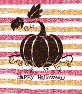 Holiday Wine Label - Halloween Glitter