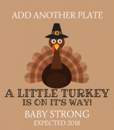 Baby Wine Label - Little Turkey
