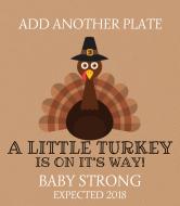Baby Wine Label - Little Turkey