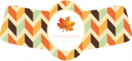 Holiday Bottle Neck Label - Fall Colors