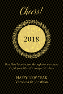 Holiday Large Wine Label - New Years Eve Gold