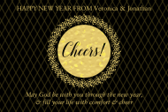 Holiday Mini Wine Label - New Years Eve Gold