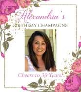 Birthday Champagne Label - Garden Party