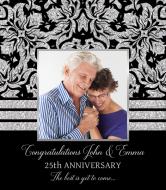 Anniversary Wine Label - Silver Anniversary