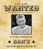 Birthday Wine Label - 40th Birthday Wanted