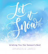 Holiday Wine Label - Let It Snow