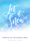 Holiday Large Wine Label - Let It Snow