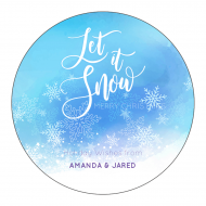 Holiday Sticker - Let It Snow