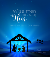 Holiday Wine Label - Wise Men Still Seek Him