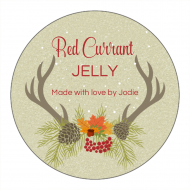 Holiday Canning Label - Thanksgiving Deer