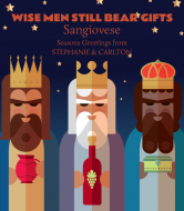 Holiday Wine Label - Wise Men Bear Gifts