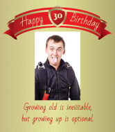 Birthday Champagne Label - Growing Up