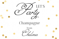 Celebration Mini Champagne Label - Party Hard