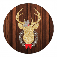 Holiday Canning Label - Gold Glitter Deer