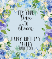Birthday Wine Label - Time to Bloom