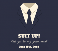 Wedding Beer Label - Suit Up