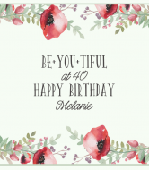 Birthday Wine Label - Be You Tiful
