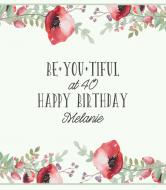Birthday Wine Label - Be You Tiful
