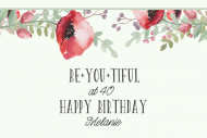 Birthday Mini Wine Label - Be You Tiful