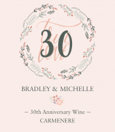 Anniversary Wine Label - True Love