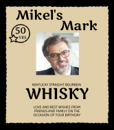 Birthday Liquor Label - Make Your Mark