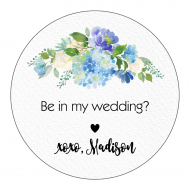 Wedding Sticker - Linen and Blooms