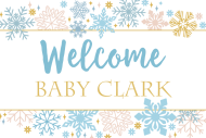 Baby Mini Wine Label - Sparkling Snowflakes
