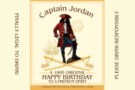 Birthday Mini Liquor Label - Rum Captain