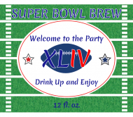 Beer Label - Football Party