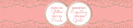 Baby Water Bottle Label - Twin Baby Girls