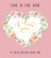 Holiday Wine Label - Rose Heart Frame