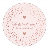 Anniversary Sticker - Rose Gold Sparkle