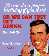 Expressions Liquor Label - Proper Birthday