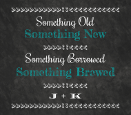 Wedding Beer Label - Chalkboard Wedding Brew