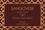 Mini Wine Label - Rose Gold Mesh