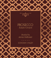 Expressions Champagne Label - Rose Gold Mesh