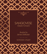 Expressions Wine Label - Rose Gold Mesh