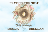 Baby Mini Wine Label - Feather the Nest