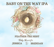 Baby Beer Label - Feather the Nest