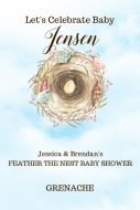 Baby Large Wine Label - Feather the Nest