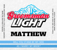 Wedding Beer Label - Groomsman Light Beer