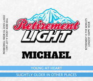 Beer Label - Retirement Light Beer