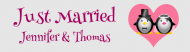 Wedding Bumper Sticker - Wedding Penguins Just Married