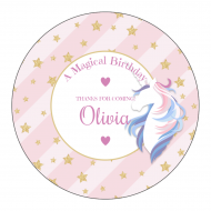 Birthday Sticker - Unicorn Wishes