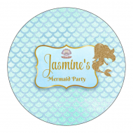 Birthday Sticker - Mermaid Sparkles