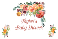 Baby Mini Wine Label - Winter Floral
