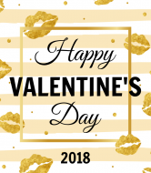 Holiday Wine Label - Gold Valentines Day