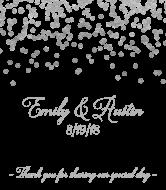 Wedding Champagne Label - Silver Confetti