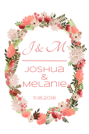 Wedding Large Wine Label - Floral Wreath