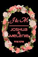 Wedding Large Wine Label - Floral Wreath
